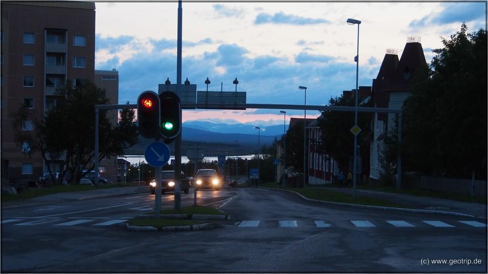 Kiruna - spät in der Nacht