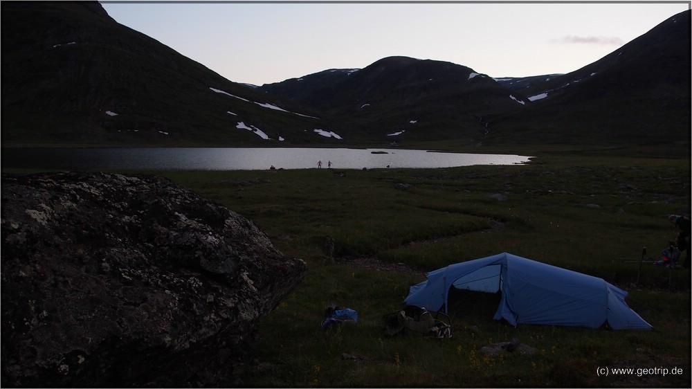 2. Campplatz kurz vor dem Tjäktja Pass