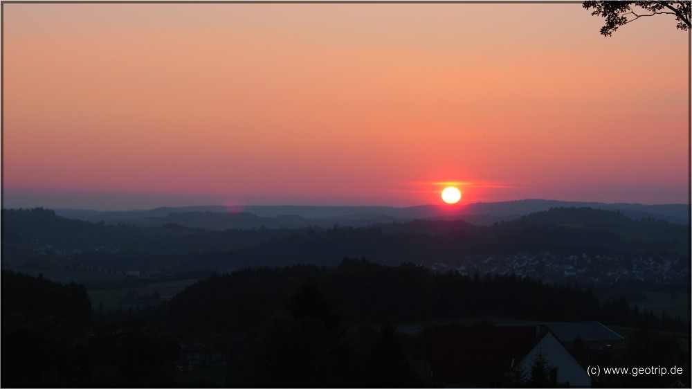 Sonnenuntergang in der Eifel