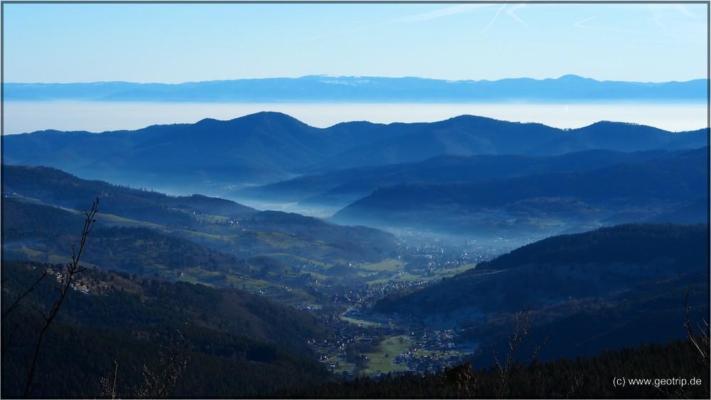 Das Munstertal - im Hintergrund der Feldberg
