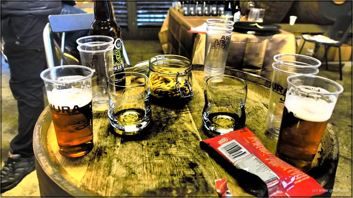 Bier, Whisky - und zwischendurch auch mal rauchige Mandeln