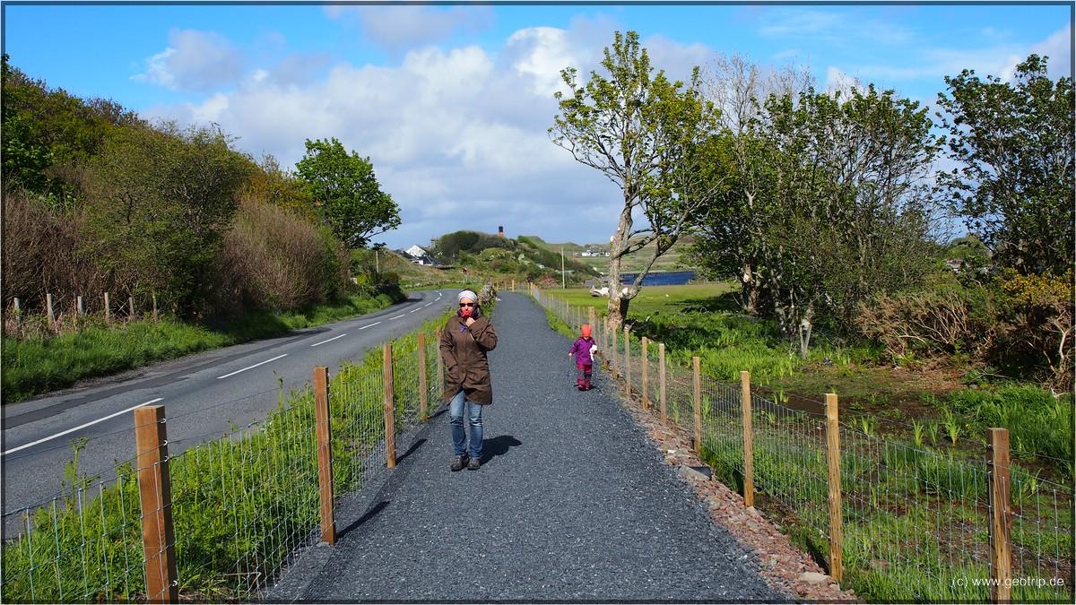 Der neue Weg der die big three an der Südküste mit Port Ellen verbindet