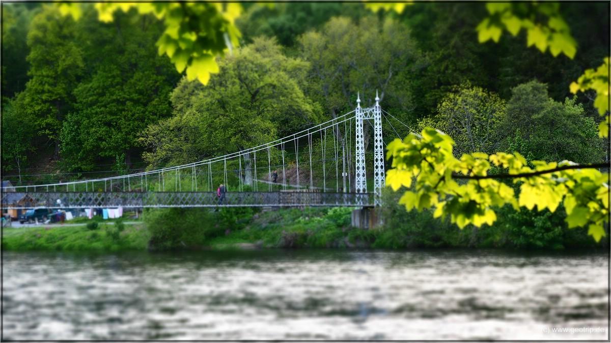 Letzter Programmpunkt, die alte Hängebrücke