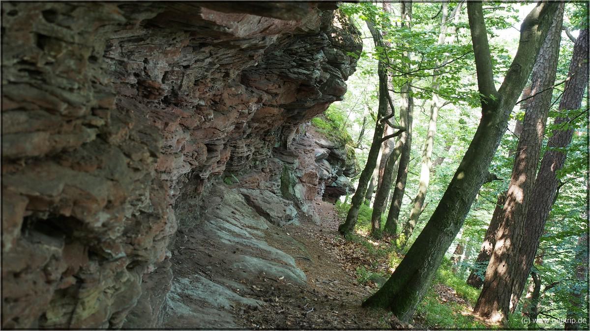 Aber auch so gibt es interressante Sandsteinformationen zu sehen