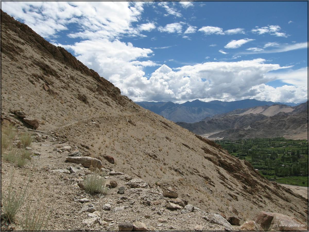 Aufstieg zum Nameless Mountain