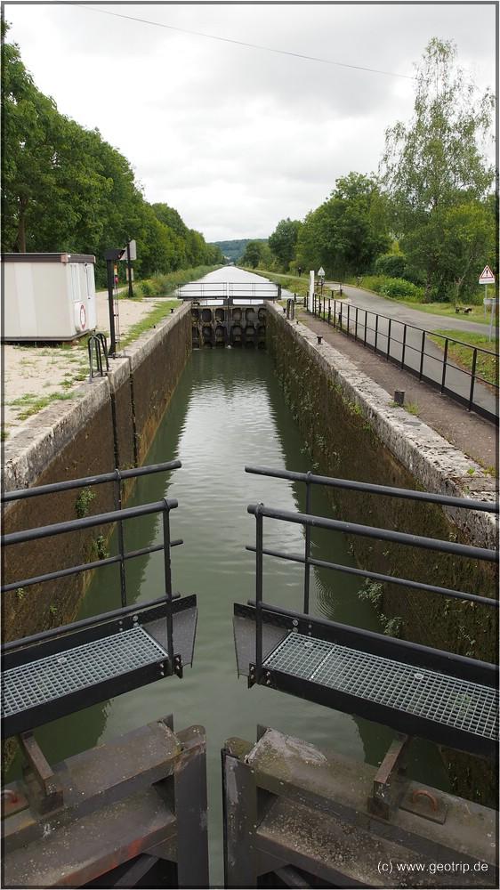 Schleuse im Canal du Rhône au Rhin
