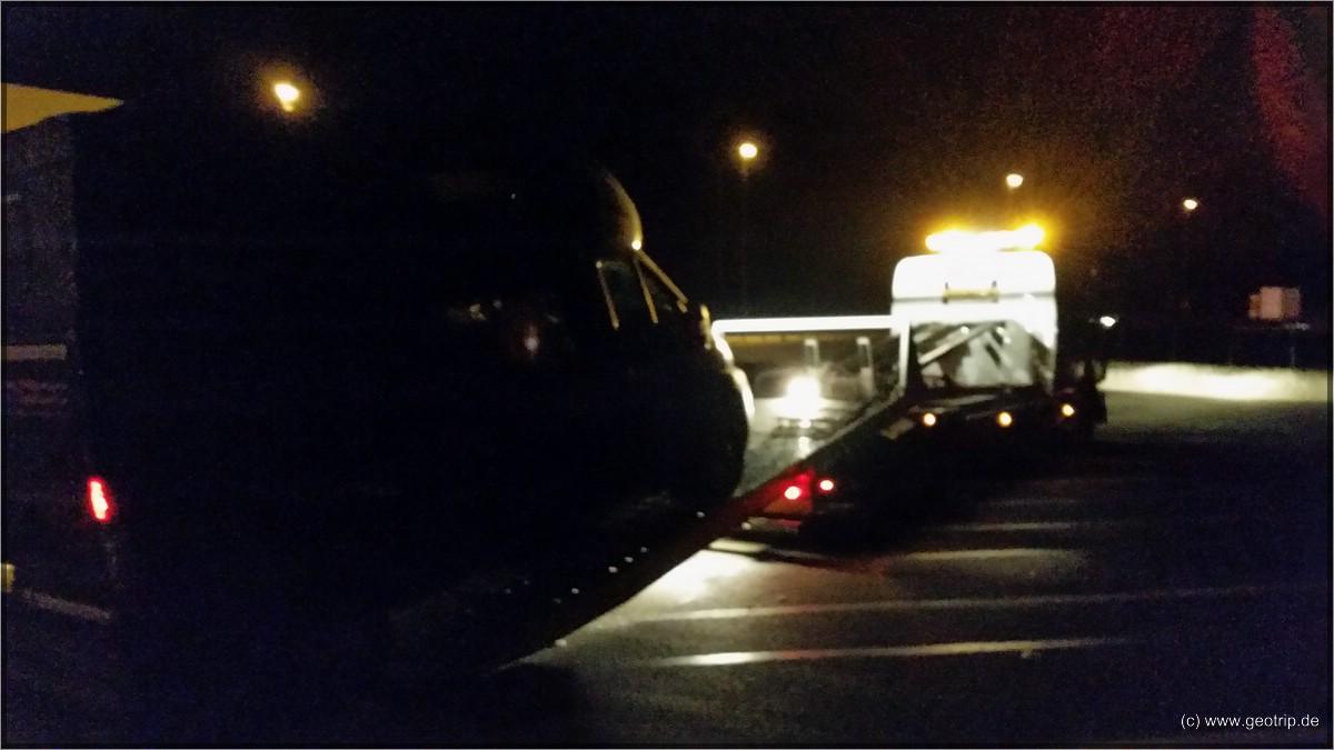 Abgeschleppt - 1 Uhr nachts auf der französischen Autobahn