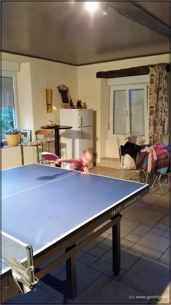 Voller Einsatz beim Tischtennis!