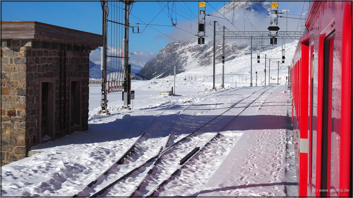 Bahnanlagen in großer Höhe