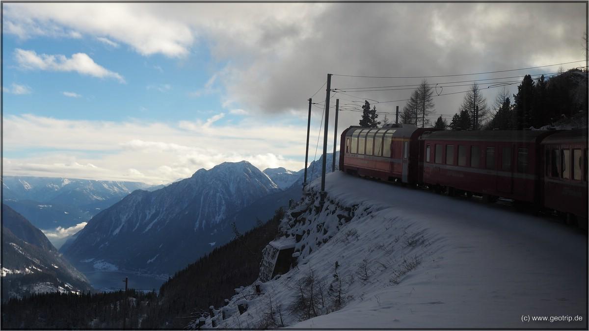 Trassenführung im steilen Hang