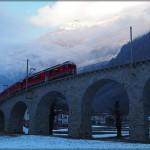 Mit der Bahn durch die Berge