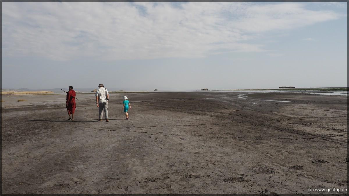 Wir laufen zum See