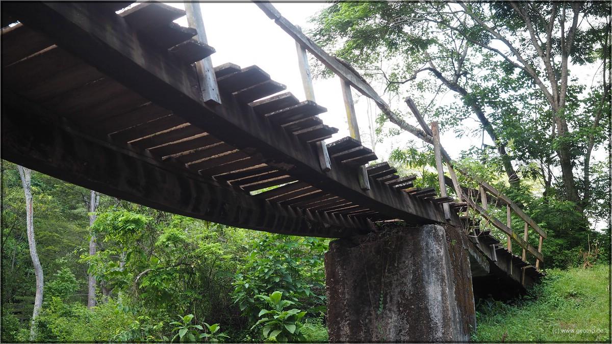 spannende Brückenkonstruktion