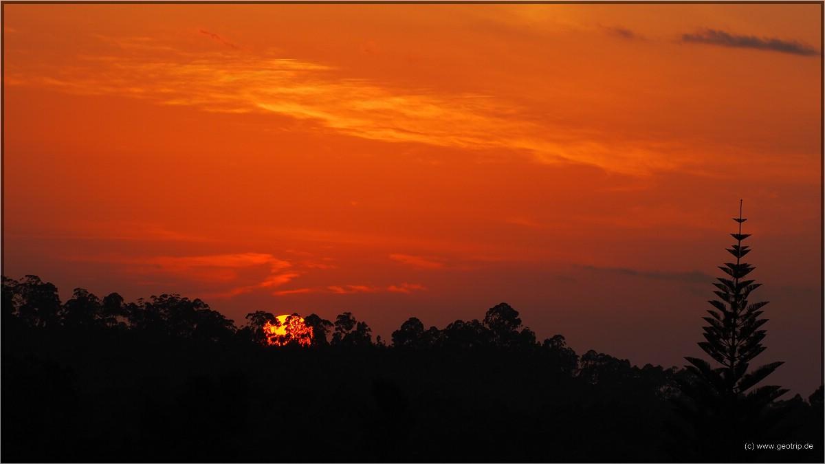 Sonnenuntergang in den Usambaras