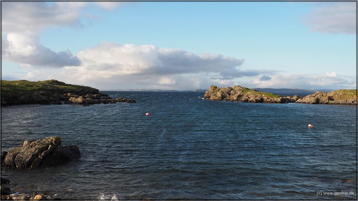 An der Küste im Hintergrund waren wir heute morgen noch