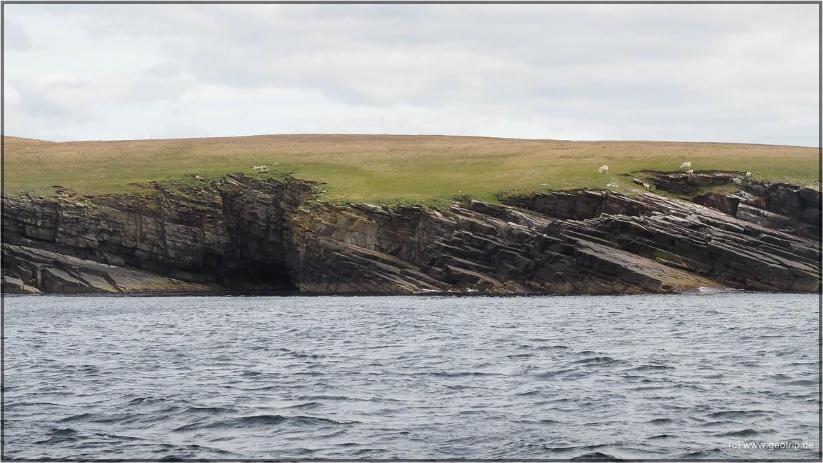 Auch Mousa hat natürlich eine Klippenküste