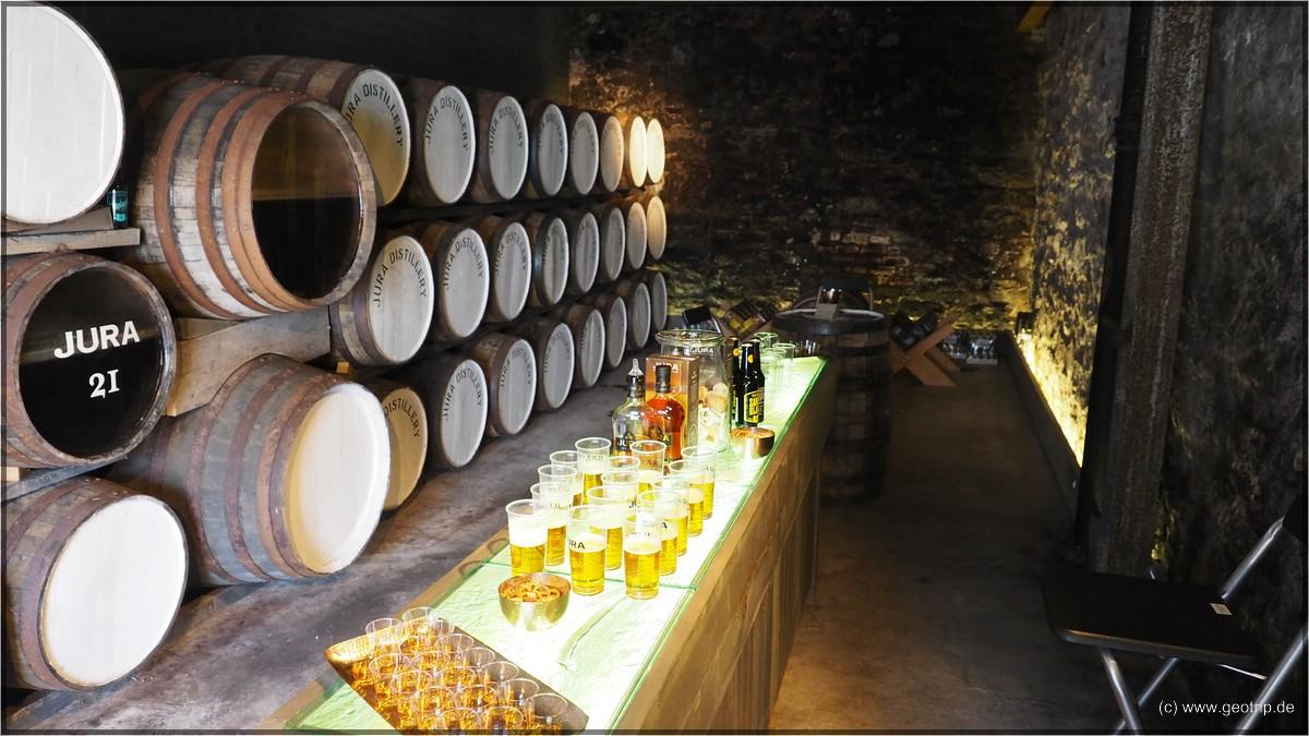 Dram Fyne -Whisky und Bier