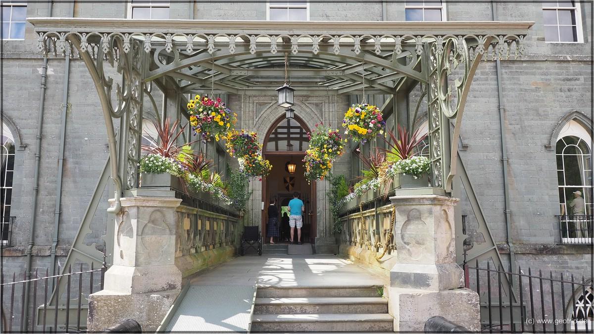Eingang als Orangerie