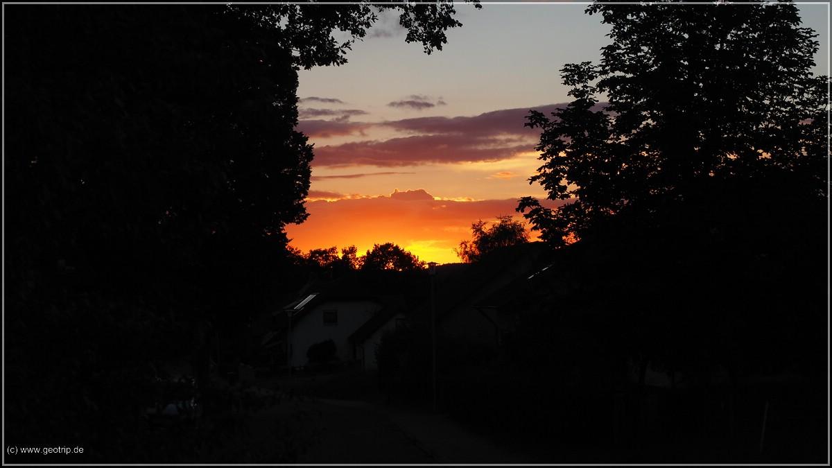 Und sogar eine Sonnenuntergang